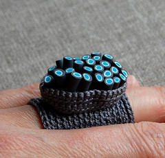 Organic crochet ring | by ELINtm