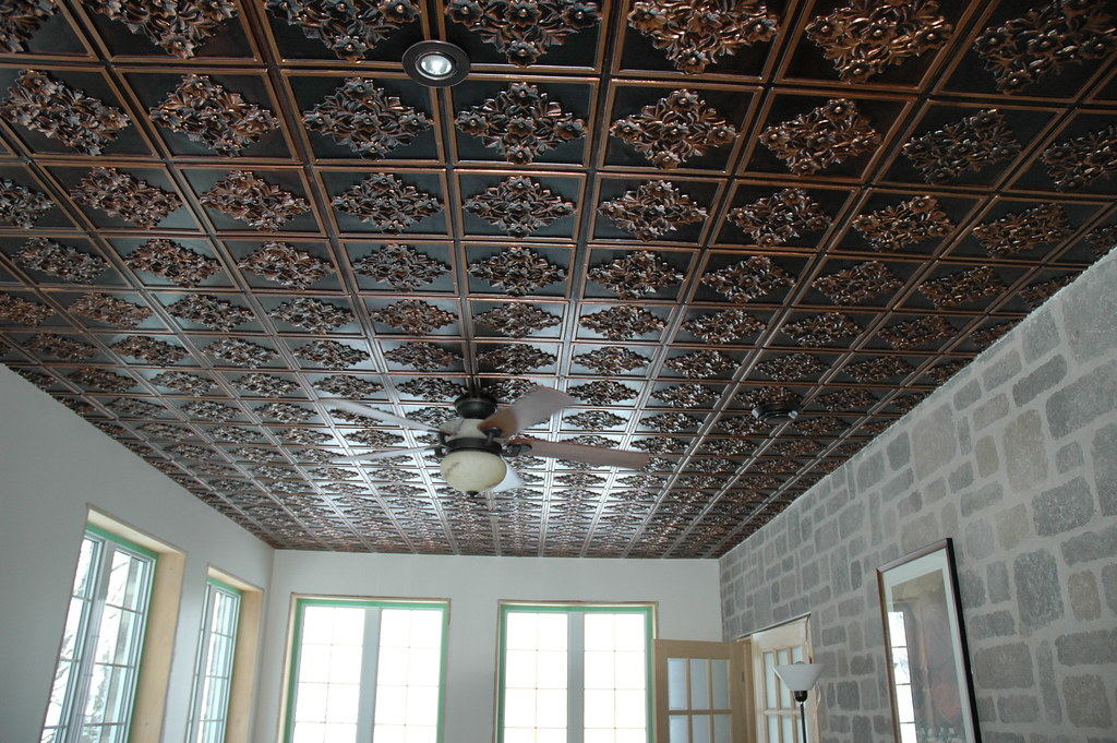 to ceilings tin pinterest bronze best framed lindalary tiles antique ready paint old images on tones ceiling circa over tile hang brown