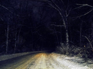 Night Winter Road | by Pipewrench67