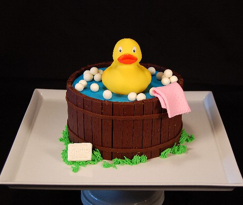 ducky cake created in modeling chocolate many thanks to j flickr