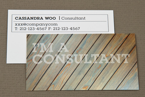 Home Maintenance Business Card with Weathered Wood | by inkdphotos