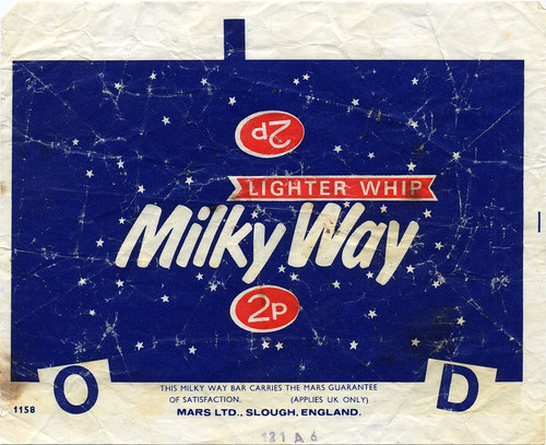 UK - Mars - Milky Way 2p candy bar wrapper - 1970's | by JasonLiebig