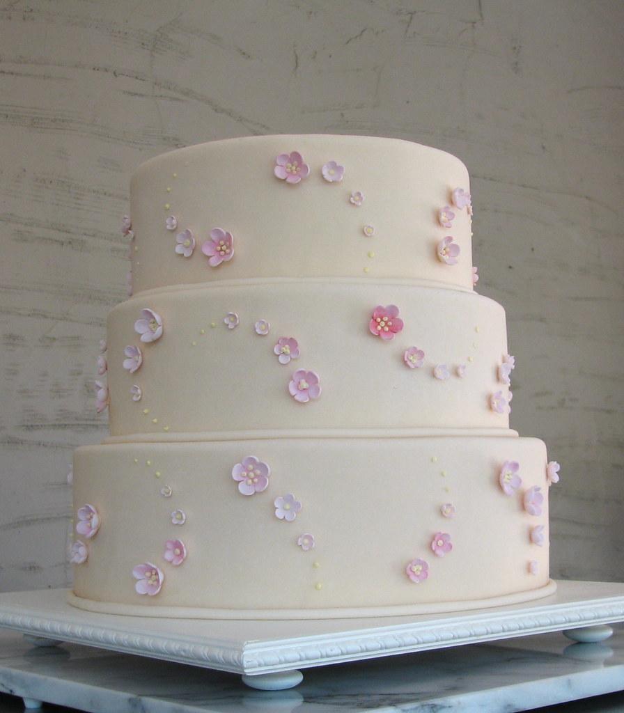 Cherry Blossom Wedding Cake | Cherry Blossom Wedding Cake Wca017 Ivory Fondant Covers Th Flickr