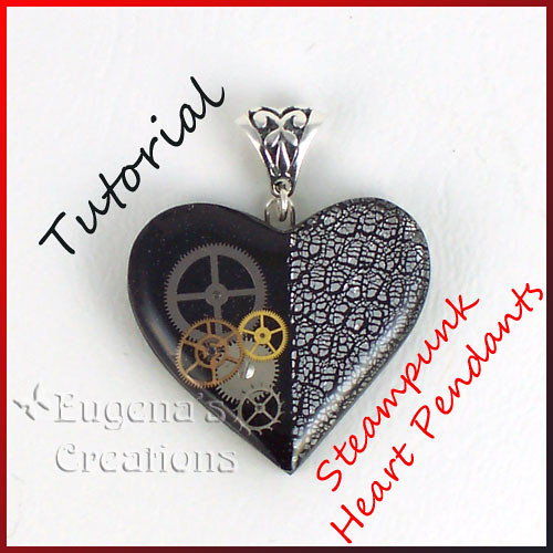Tutorial steampunk heart pendants polymer clay resin a flickr tutorial steampunk heart pendants polymer clay resin and watch parts by aloadofball Images