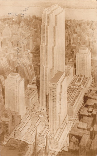 Rockefeller Center, pre-construction rendering by John Wenrich | by fotohawaii