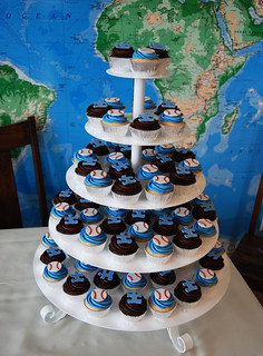 Baseball Wives Autism Speaks charity event cupcake tower | by Sweet Shoppe Mom and Simply Sweets