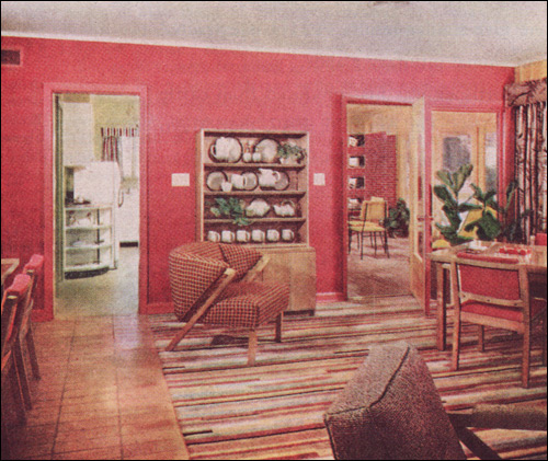 1951 Coral Pink Living - Dining Room | Source: Better Homes … | Flickr