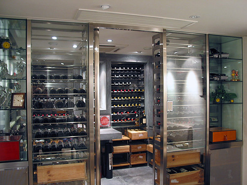 Wine Cellar We Had Dinner At A Family Friend 39 S Beautiful
