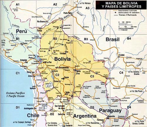 Mapa De Bolívia Map Of Bolivia Douglas Fernandes Flickr - Map of bolivia