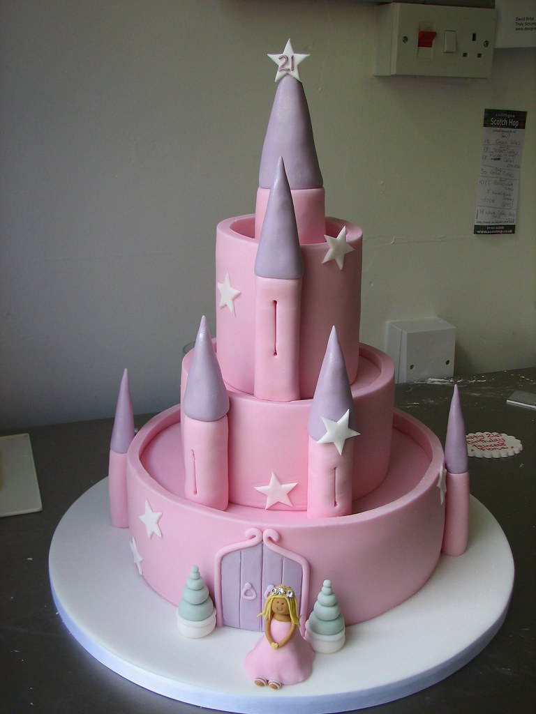 Fairy Castle Birthday Cake Birthday Cake For A Princess Flickr