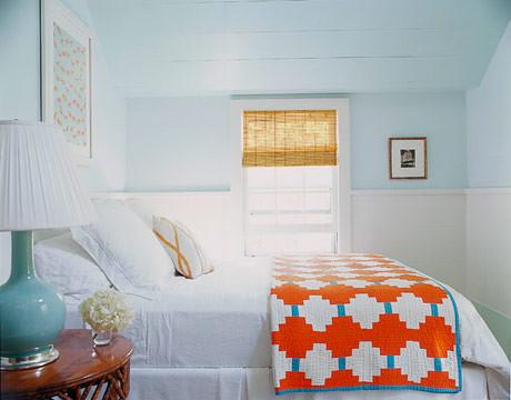 Dreamy Bluegreen Hamptons Bedroom Benjamin Moores Spri Flickr - Orange and light blue bedroom