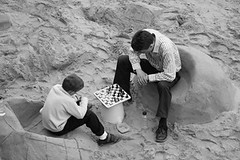 chess on the beach | by I woz ere