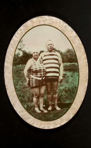Man and woman in swimming apparel | by George Eastman Museum