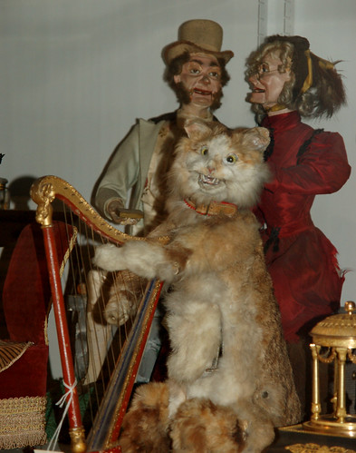 Automata Cat Harpist and a Couple | by Curious Expeditions