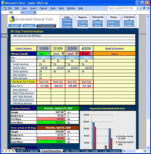 power 90 transformation tracker get this excel