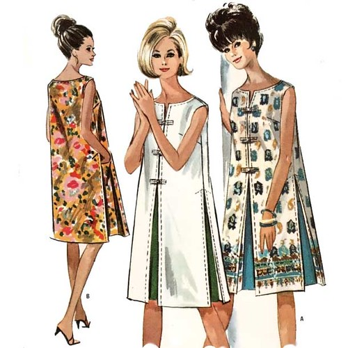 Vintage 1960\'s shift dress sewing pattern | Love the contras… | Flickr