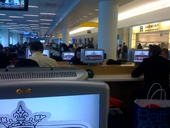 Ads everywhere at JetBlue terminal | by scriptingnews