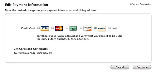 Itune paypal