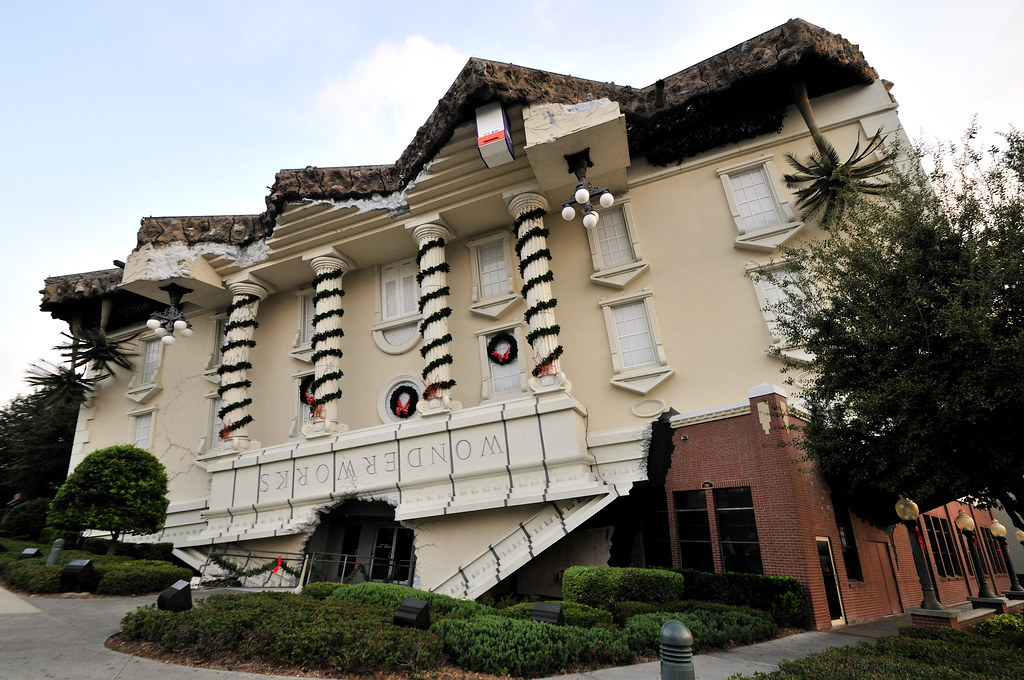 ... The House stands upside down. Wonder Works in Orlando, FL | by ohmytrip