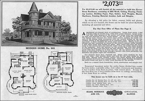 1909 sears queen anne modern home 303 sears started for American house plans free