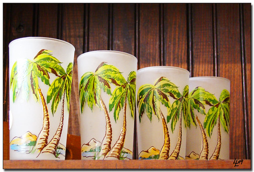 palm tree glasses | by alphabet soup studio / lenore locken
