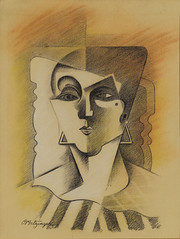 Metzinger, Jean (1883-1956) - Head of a Woman | by RasMarley