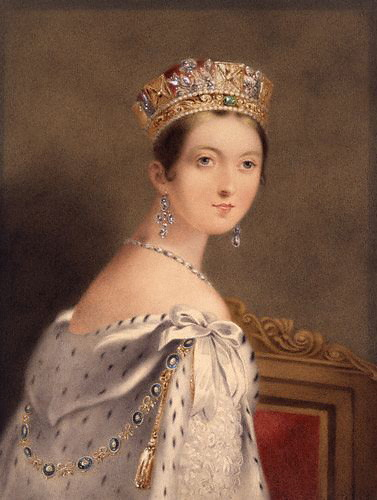 Queen Victoria Wearing The State Diadem 1838 Queen