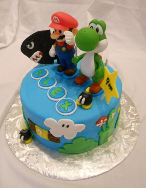 Super Mario Bros Birthday Cake Delivery to New York City Flickr