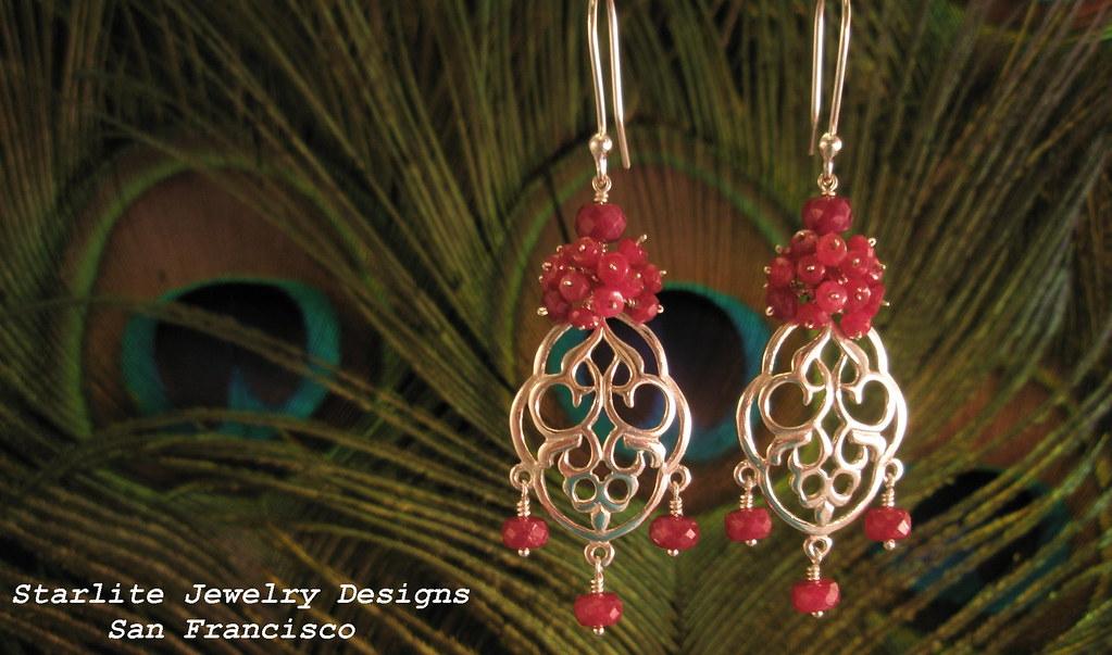 Starlite Jewelry Designs Ruby Chandelier Earrings Flickr