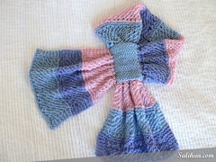 Knitted Bow-knot Wisp Scarf | by :Salihan