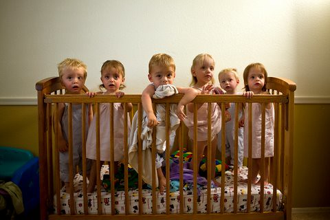 Masche sextuplets in crib | The Masche Sextuplets (l to r ...
