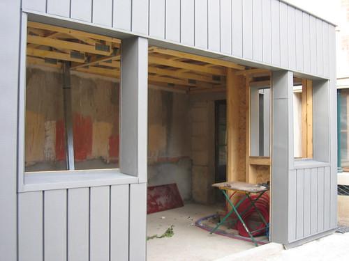 extension ossature bois bardage zinc renovation bardage zi flickr. Black Bedroom Furniture Sets. Home Design Ideas