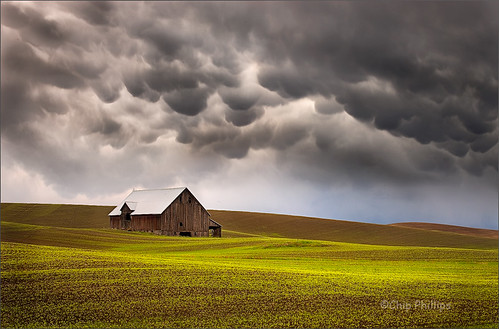 Mammatus Clouds and Barn, Palouse | by Chip Phillips