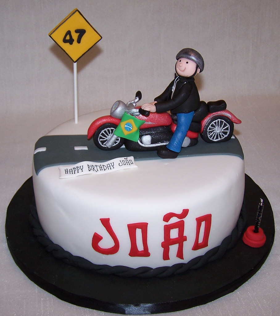Motorcycle cake Cake covered in fondant with fondant detai Flickr