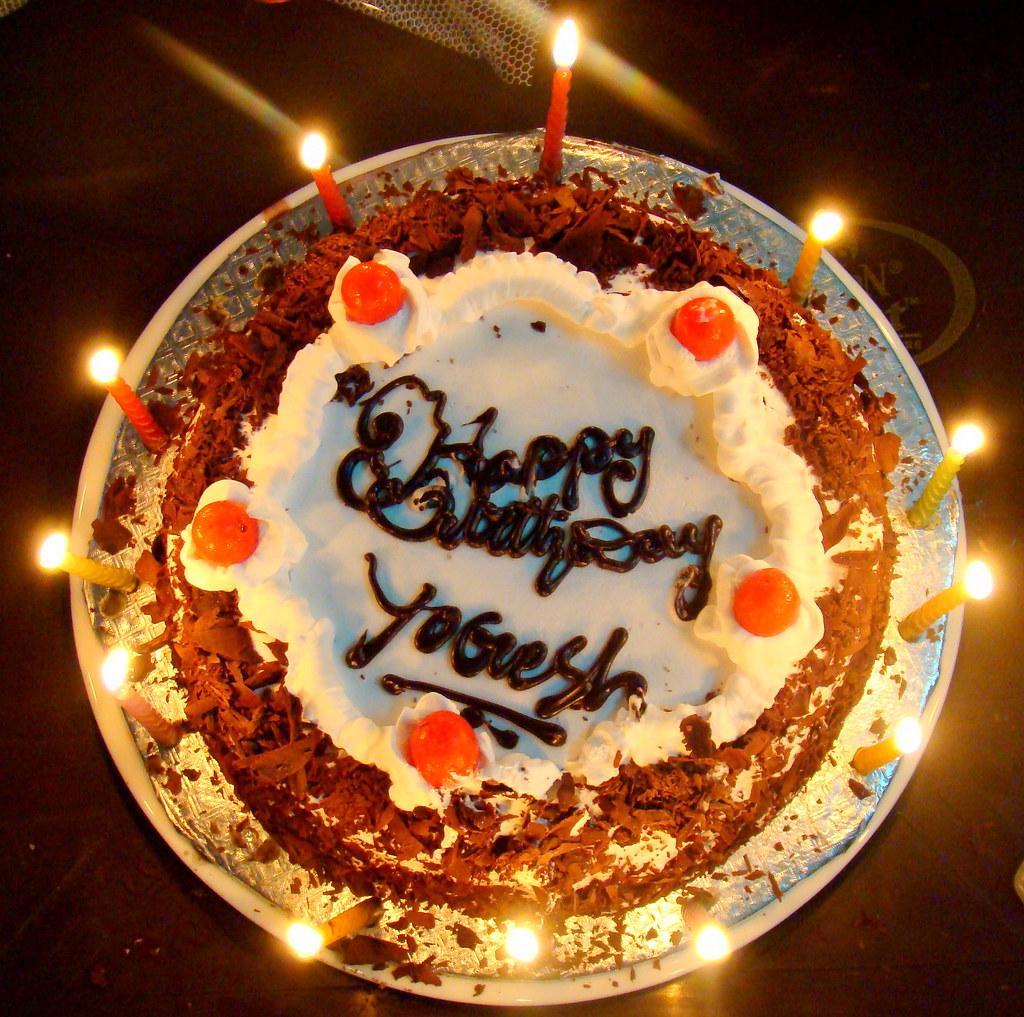 My Biirthday Cake Celebrated Birthday In Midnight Yogesh