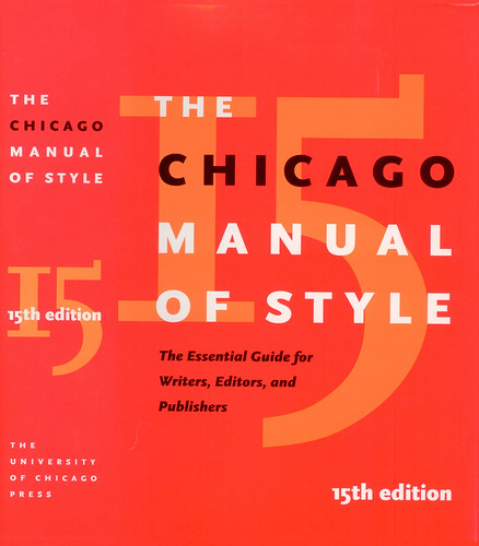 university of chicago manual of style
