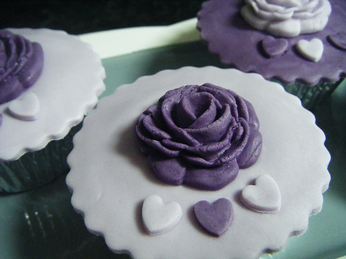Lilac & Purple Wedding Cupcakes | by Cakeology ~ Handmade Cakes from East Midlands, UK