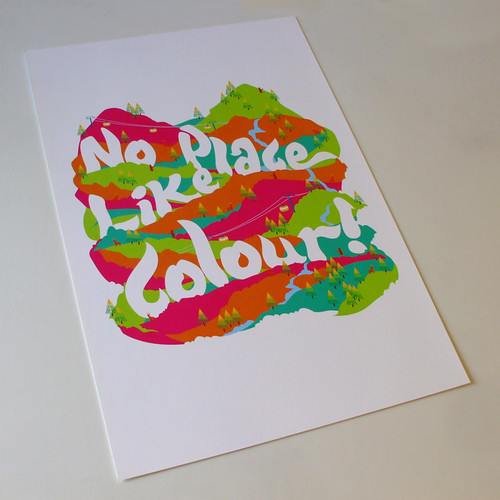 No Place Like Colour Art Print | by bentheillustrator