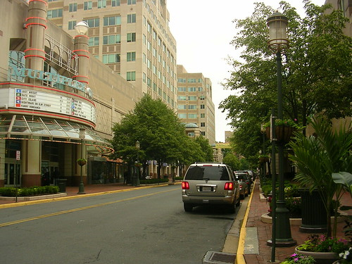 reston town center a movie theater and shopping areas in