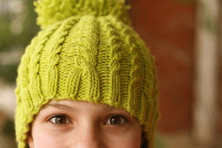 Snowball Hat in Malabrigo Apple Green | by add_knitter