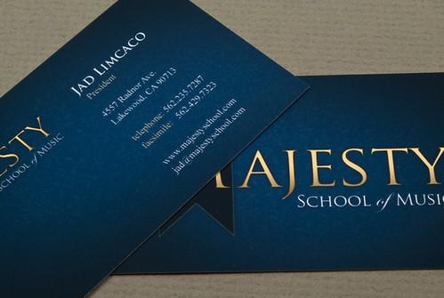 Music School Business Card Music School Business Card Desi Flickr
