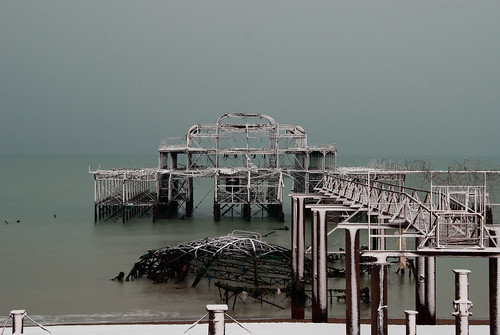 Snow dusted West Pier | by Jane Dallaway