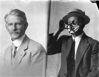 Compulsory mask, brought in to combat the flu epidemic after the World War, 1918-1919 / Sam Hood | by State Library of New South Wales collection