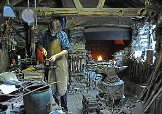 Victorian blacksmith at work in St Fagans | by Nikonsnapper