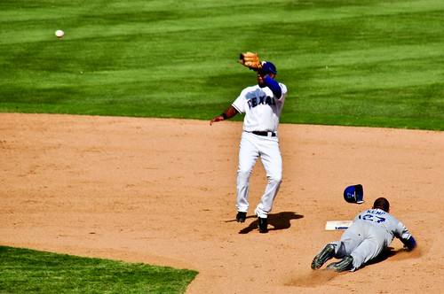 Matt Kemp Stealing Second Base | by Rich Anderson