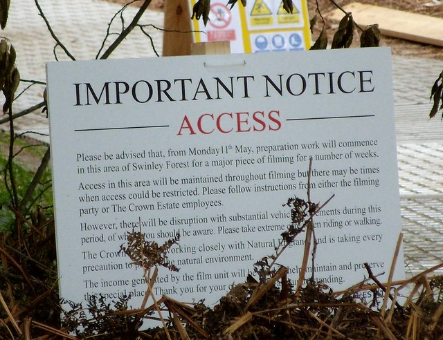 Harry Potter filming - Access Restricted