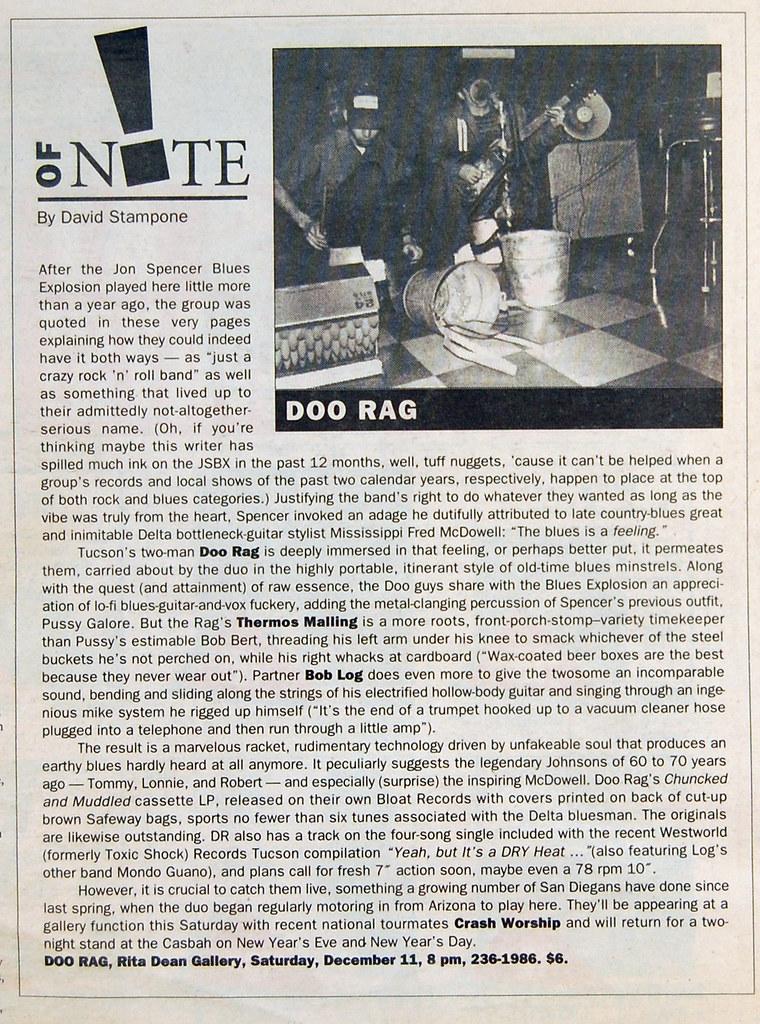 doo rag providence journal 1994 | Brad Denboer | Flickr