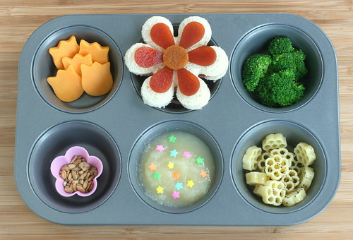 MTM flower power! muffin tin monday - flowers and blossoms theme | by anotherlunch.com