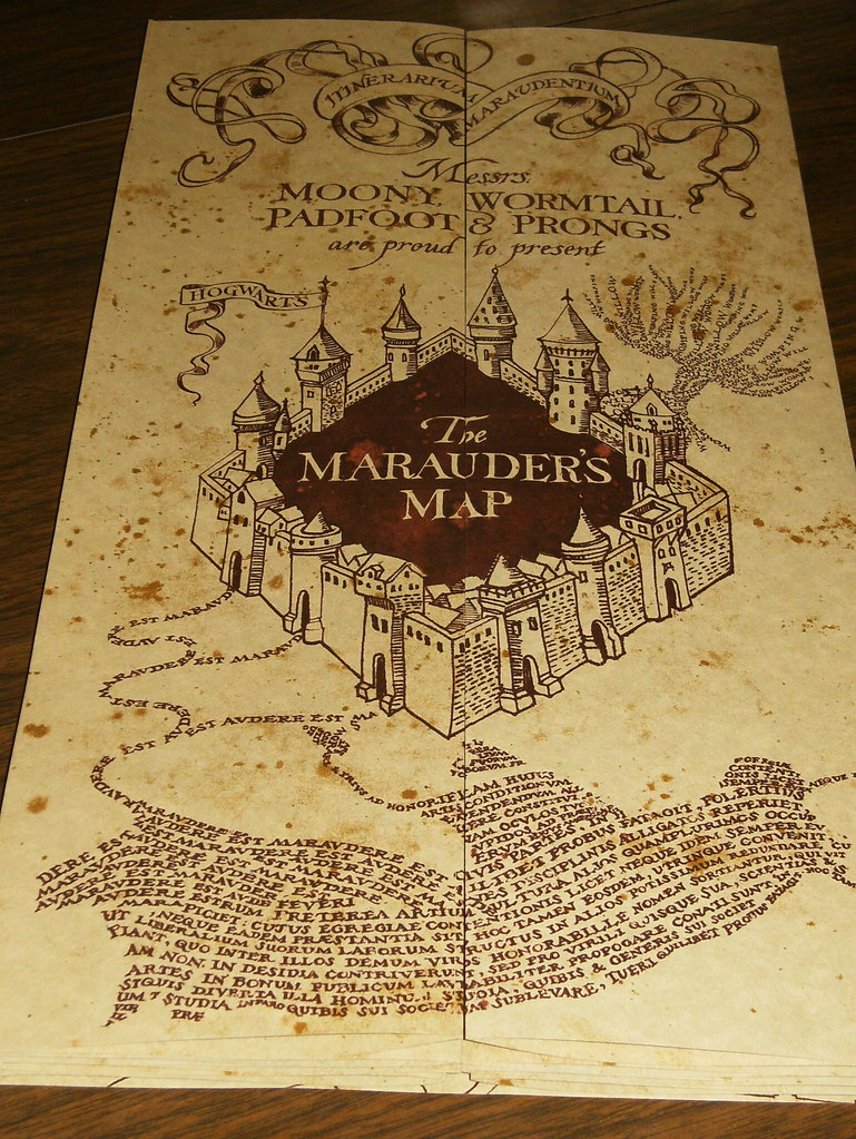 The Marauders Map Usa Map States And Capitals