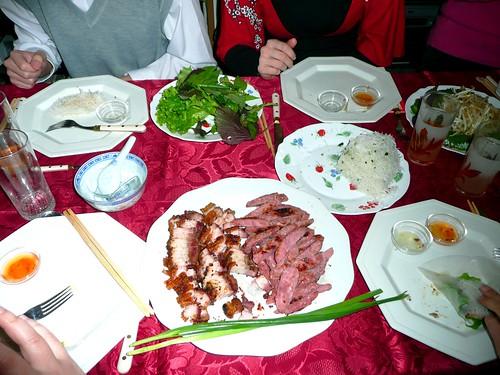Plats Vietnamiens Nem Nuong Porc Laqu Cheveux D 39 Ange F